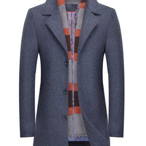 Men's Winter Notched Collar Single Breasted